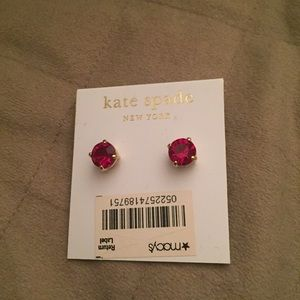 Kate Spade Red Stone Earrings